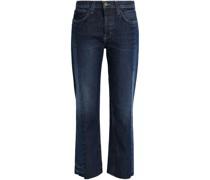 The Selvedge Uneven Halbhohe Jeans mit Geradem Bein und Einsätzen