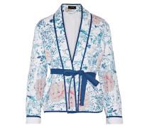 Orsen Quilted Printed Cotton Jacket Blau