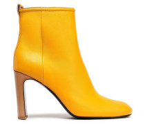 Woman Ellis Leather Ankle Boots Mustard