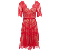 Neroli Grosgrain-trimmed Chantilly Lace Dress
