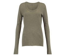 Cotton And Cashmere-blend Sweater Grau