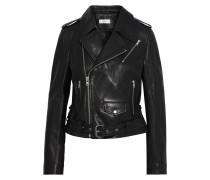 Woman Dree Lace-up Leather Biker Jacket Black