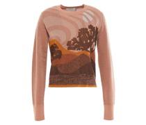 Pullover aus Jacquard-strick mit Metallic-effekt