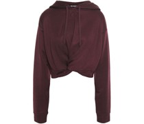 Cropped Twist-front French Terry Hoodie