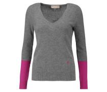 Two-tone Cashmere Sweater Dunkelgrau