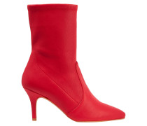 Stretch-leather Ankle Boots