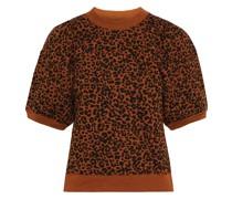 Jessa Oberteil aus Baumwollfrottee mit Leopardenprint