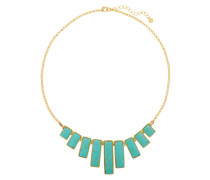 Gold-tone Faux Turquoise Necklace Türkis