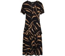 Sanja Mehrlagiges Kleid aus Chiffon mit ausbrennmuster