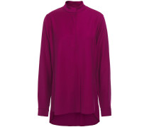 Woman Stretch-twill Shirt Violet