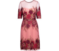 Embroidered Tulle Dress Puder