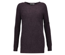 Ribbed-knit Cashmere Sweater Brombeere