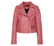 Collumba Cropped Leather Biker Jacket Altrosa