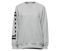 Bedrucktes Sweatshirt aus Fleece aus Einer Baumwollmischung
