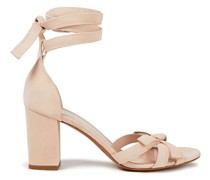 Bow-detailed Suede Sandals