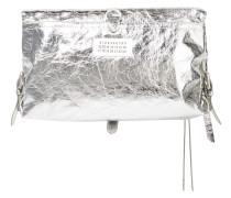 Metallic Cracked-leather Shoulder Bag