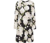 Woman Izzy Floral-print Stretch-jersey Mini Dress Black