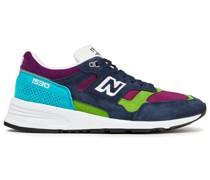 Sneakers aus Mesh und Veloursleder in Colour-block-optik