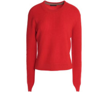 Valentina cropped ribbed cashmere sweater