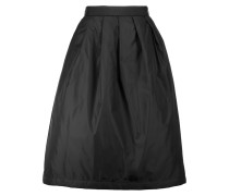 Pimlico Pleated Shell Midi Skirt Schwarz