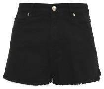 Frayed Studded Denim Shorts