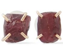 Ohrringe aus 14 Kt.  mit Rhodolithen