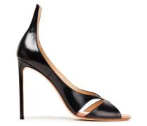 Cutout Leather Sandals