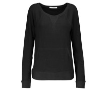 Stretch Cotton And Modal-blend Sweater Schwarz