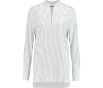 Cairo Striped Cotton And Linen-blend Shirt Weiß