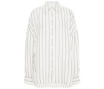 Oversized Striped Twill Shirt