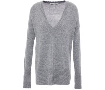 Distressed Mélange Knitted Sweater