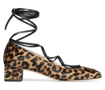 Evelyn Leopard-print Calf Hair Pumps Leoparden-Print