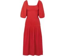 Harper Smocked Cotton-gauze Midi Dress