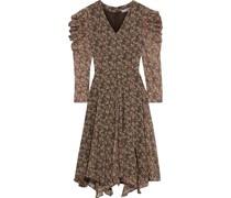Abby Asymmetrisches Kleid aus Georgette mit Floralem Print