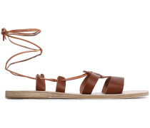 Polyxeni Lace-up Leather Sandals