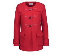 Pekin Leather-trimmed Wool-blend Coat Rot