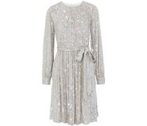 Chloe Gerafftes Kleid aus Tüll mit Pailletten und Gürtel