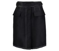 Cotton-blend Mini Skirt Mitternachtsblau