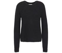 Paticia Melierter Pullover aus Einer Gerippten Wollmischung
