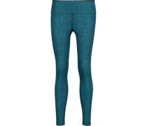 Mystic cropped marled stretch leggings