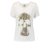 Morning After Printed Modal-jersey T-shirt Elfenbein