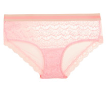 Bisou Lace And Tulle Briefs Babypink