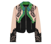 Embroidered cotton-blend jacket