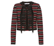 Cropped Embellished Wool And Cotton-blend Jacket Rot