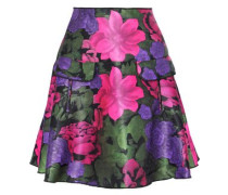 Neon neoprene mini skirt