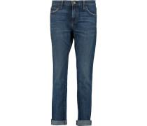 The Rendezvous Low-rise Boyfriend Jeans Dunkler Denim