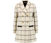 Plaid Twill Coat Ecru
