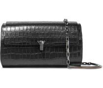 Po Trunk Croc-effect Leather Shoulder Bag