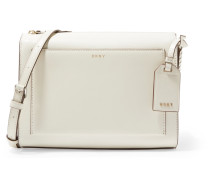 Bryant Park Smooth And Textured-leather Shoulder Bag Creme