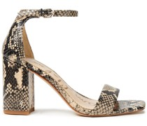 Daniella Snake-effect Leather Sandals